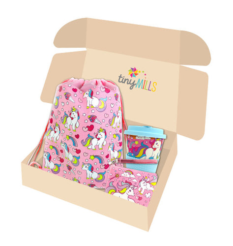 Pink Unicorn Birthday Party Gift Boxes for Kids