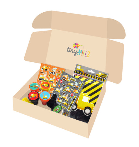 Construction Birthday Party Gift Boxes for Kids