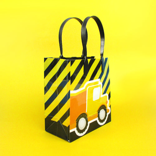 Construction Trucks Party Favor Bags Treat Bags - Set of 6 or 12