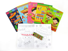 Load image into Gallery viewer, Fiesta Coloring Books with Crayons Party Favors - Set of 6 or 12