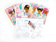 Rainbow Mermaid Coloring Books - Set of 6 or 12 - Coloring Books | Tiny Mills®