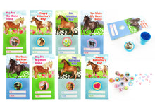 Load image into Gallery viewer, Horse Valentine's Day Cards with Stampers for Classroom Exchange