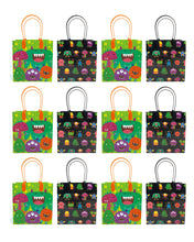 Load image into Gallery viewer, Monster Party Favor Treat Bags, 12 Packs