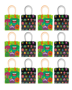 Monster Party Favor Treat Bags, 12 Packs