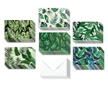 Load image into Gallery viewer, Tropical Plants - 36 Pack Assorted Greeting Cards for All Occasions - 6 Design