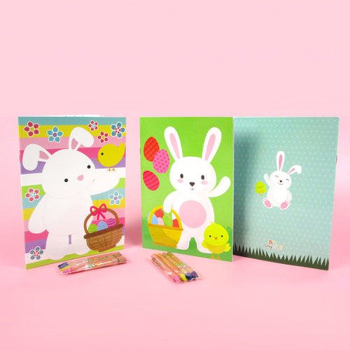 Easter Coloring Books with Crayons Party Favors - Set of 6 or 12