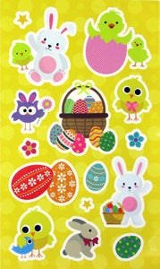Easter Color-in Sticker Set with Markers Party Favors, 12 Pack