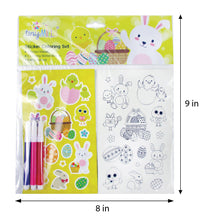 Load image into Gallery viewer, Easter Color-in Sticker Set with Markers Party Favors, 12 Pack
