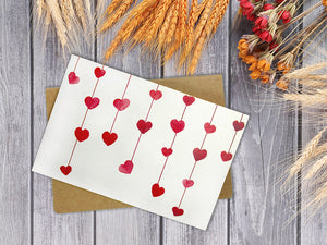 Hearts Assorted Greeting Cards for All Occasions and Valentine's Day - 6 Design
