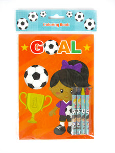 Soccer Coloring Books with Crayons Party Favors - Set of 6 or 12