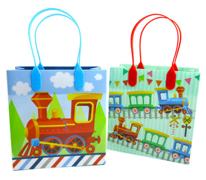 Train Party Favor Bags Treat Bags - 12 Bags