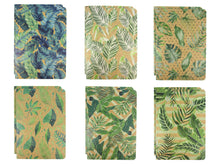 Load image into Gallery viewer, Tropical Palm Leaves Journal Notebooks - Set of 6 or 12