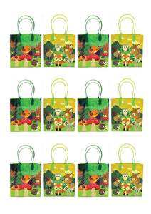 Woodland Animals Party Favor Bags Treat Bags, 12 Pack