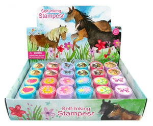 TINYMILLS 24 Pcs Horse and Pony Stampers for Kids
