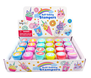 TINYMILLS 24 Pcs Unicorn Desserts Stampers for Kids
