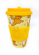 Load image into Gallery viewer, Eco-Friendly Reusable Plant Fiber Travel Mug with Shiba Inu Dog Design