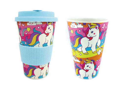 Eco-Friendly Reusable Plant Fiber Travel Mug with Unicorn Design $ 8.99 Tiny Mills®