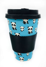 Load image into Gallery viewer, Eco-Friendly Reusable Plant Fiber Travel Mug with Panda Design