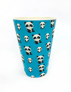 Eco-Friendly Reusable Plant Fiber Travel Mug with Panda Design