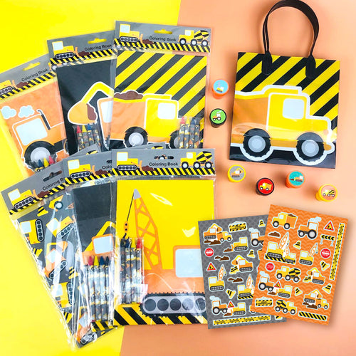 Construction Trucks Party Favor Bundle for 12 Kids