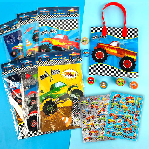 Monster Trucks Party Favor Bundle for 12 Kids