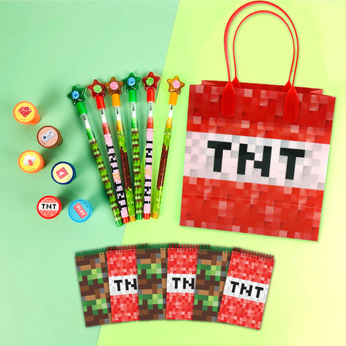 Pixels Miner Themed Party Favor Bundle for 12 Kids
