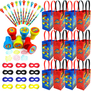 Superhero Party Favor Bundle for 12 Kids
