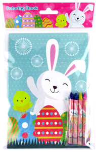Easter Coloring Books with Crayons Party Favors - Set of 6 or 12 - Coloring Books | Tiny Mills®
