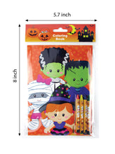 Halloween Coloring Books with Crayons Party Favors - Set of 6 or 12 - Coloring Books | Tiny Mills®