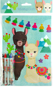 Llamas Coloring Books with Crayons Party Favors, Set of 12 $ 12.99 Tiny Mills®