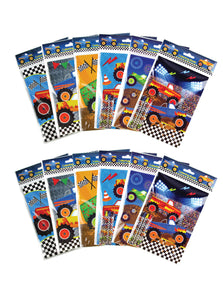 Monster Truck Coloring Books with Crayons Party Favors - Set of 6 or 12 - Coloring Books | Tiny Mills®