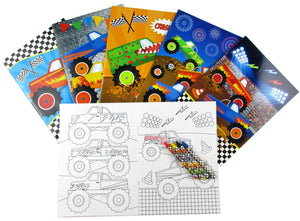Monster Truck Birthday Party Gift Boxes for Kids