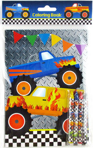 Monster Truck Coloring Books with Crayons Party Favors, Set of 12 $ 12.99 Tiny Mills®