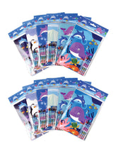 Load image into Gallery viewer, Ocean Life Coloring Books with Crayons Party Favors, Set of 12