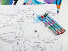 Ocean Life Coloring Books with Crayons Party Favors - Set of 6 or 12 - Coloring Books | Tiny Mills®