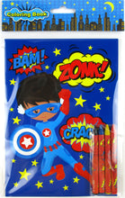 Superhero Coloring Books with Crayons Party Favors, Set of 12 $ 12.99 Tiny Mills®