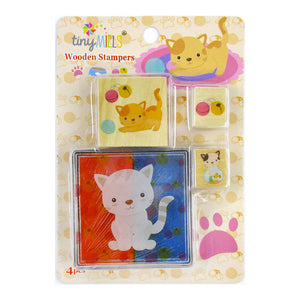 Cats Wooden Stamper Sets - 12 Pcs Assorted