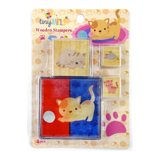 Load image into Gallery viewer, Cats Wooden Stamper Sets - 12 Pcs Assorted