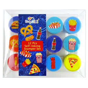 Cute Cartoon Food Stamp Kit for Kids - 12 Pcs - Stamps | Tiny Mills®
