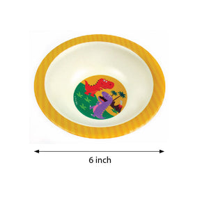 TINYMILLS 5-Piece Eco-Friendly Plant Fiber Dinnerware Set with Dinosaur Design - | Tiny Mills®