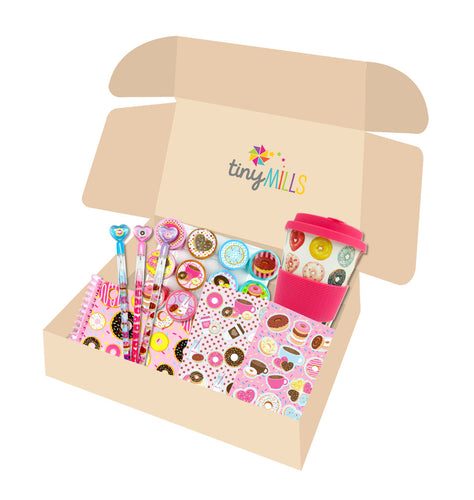 Donut Birthday Party Gift Boxes for Kids