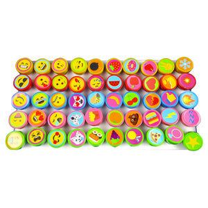 Emoji Assorted Stampers for Kids - 50 Pcs - Stamps | Tiny Mills®