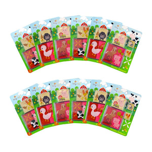 Farm Animals Wooden Stamper Sets - 12 Pcs Assorted