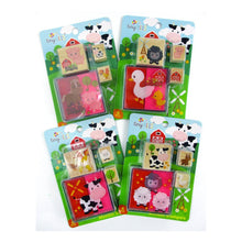 Load image into Gallery viewer, Farm Animals Wooden Stamper Sets - 12 Pcs Assorted