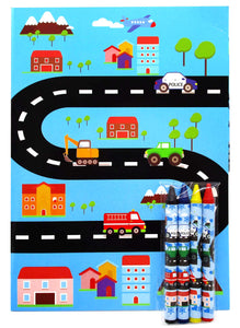 Transportation Vehicles Trains and Construction Coloring Books - Coloring Books | Tiny Mills®