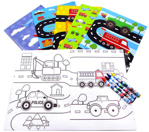 Transportation Vehicles Trains and Construction Coloring Books $ 12.99 Tiny Mills®