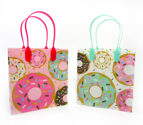 Donuts Party Favor Bags Treat Bags - 12 Bags