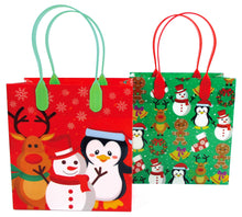 Christmas Party Favor Treat Bags - 12 Bags - Paper Bags | Tiny Mills®