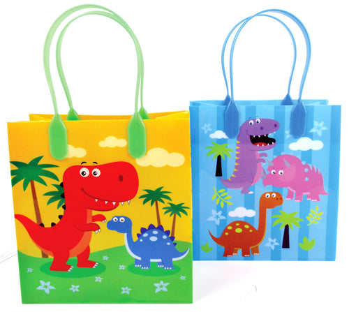 Dinosaur Party Favor Bags Treat Bags - Set of 6 or 12