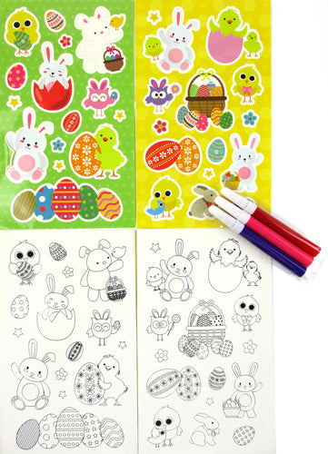 Easter Color-in Sticker Set with Markers